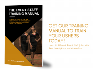 how to train ushers and event hostesses